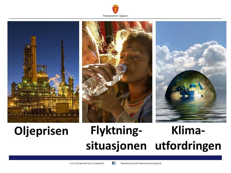 www.fylkesmannen.no/opplandFacebookcom/fylkesmannen/oppland Oljeprisen Klima- utfordringen Flyktning- situasjonen