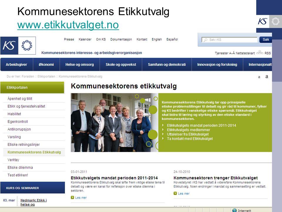 Kommunesektorens Etikkutvalg www.etikkutvalget.no www.etikkutvalget.no