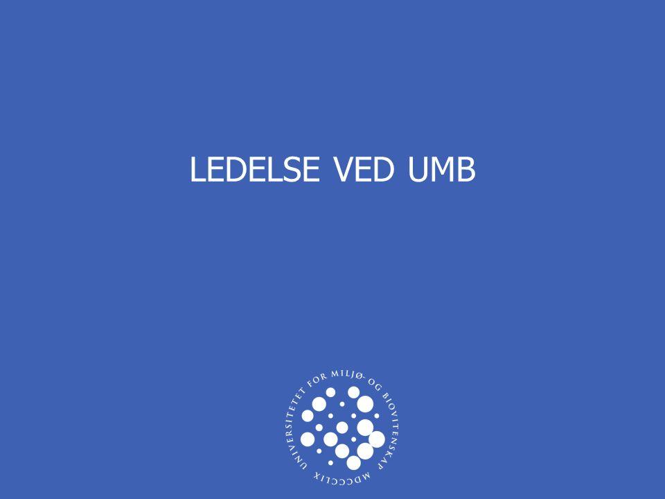 UNIVERSITETET FOR MILJØ- OG BIOVITENSKAP www.umb.no 2  Valgt leder = Ufarlig likemann.