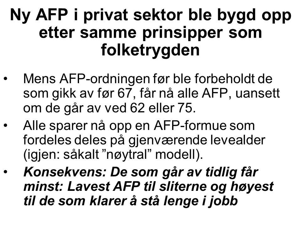 Alderstrygden i de offentlige tjenestepensjonsordningene (1) Slik var den: 30 års opptjening for å få full pensjon.