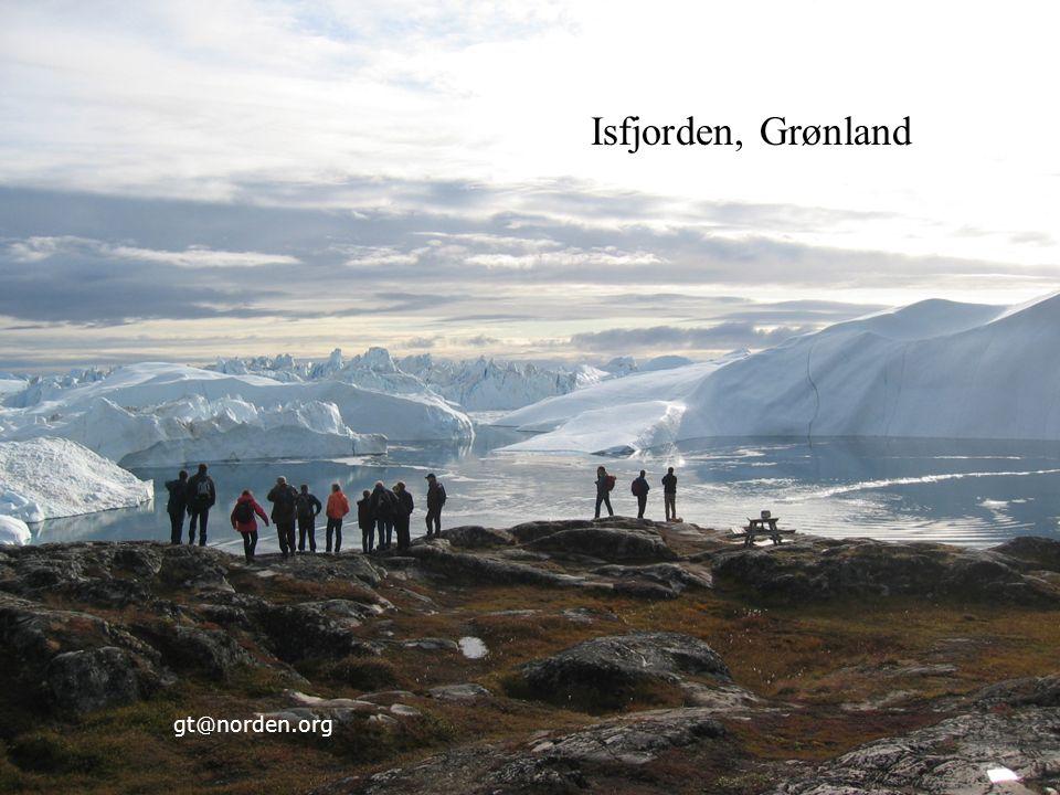 Nordisk Ministerråd Nordisk Råd Nordisk samarbejde 27 24.9.201627 gt@norden.org Isfjorden, Grønland