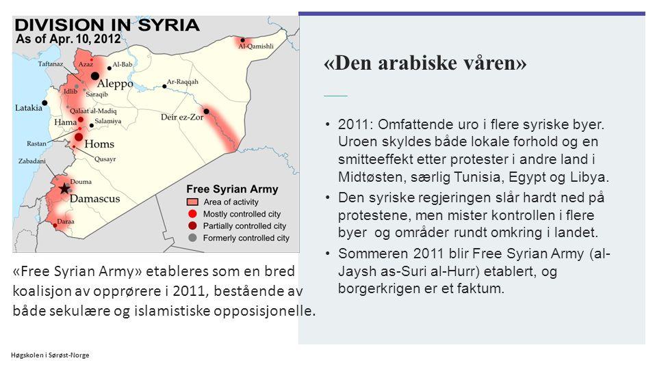 «Den arabiske våren» 2011: Omfattende uro i flere syriske byer. Uroen skyldes både lokale forhold og en smitteeffekt etter protester i andre land i Mi
