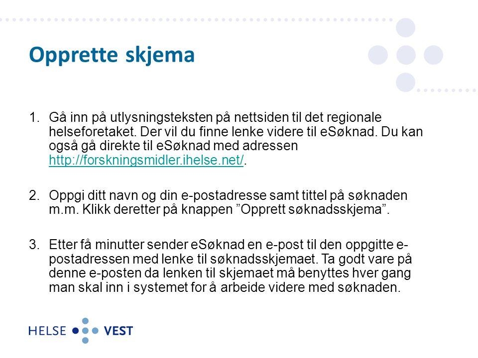 1.Gå inn på utlysningsteksten på nettsiden til det regionale helseforetaket.