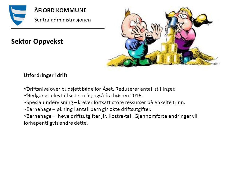 ÅFJORD KOMMUNE Sentraladministrasjonen Sektor Oppvekst Åset skole Merforbruk pr.
