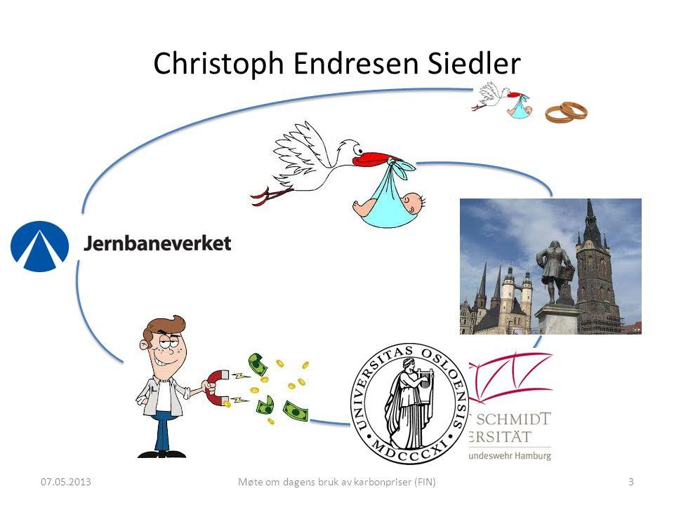 Christoph Endresen Siedler 07.05.2013Møte om dagens bruk av karbonpriser (FIN)3