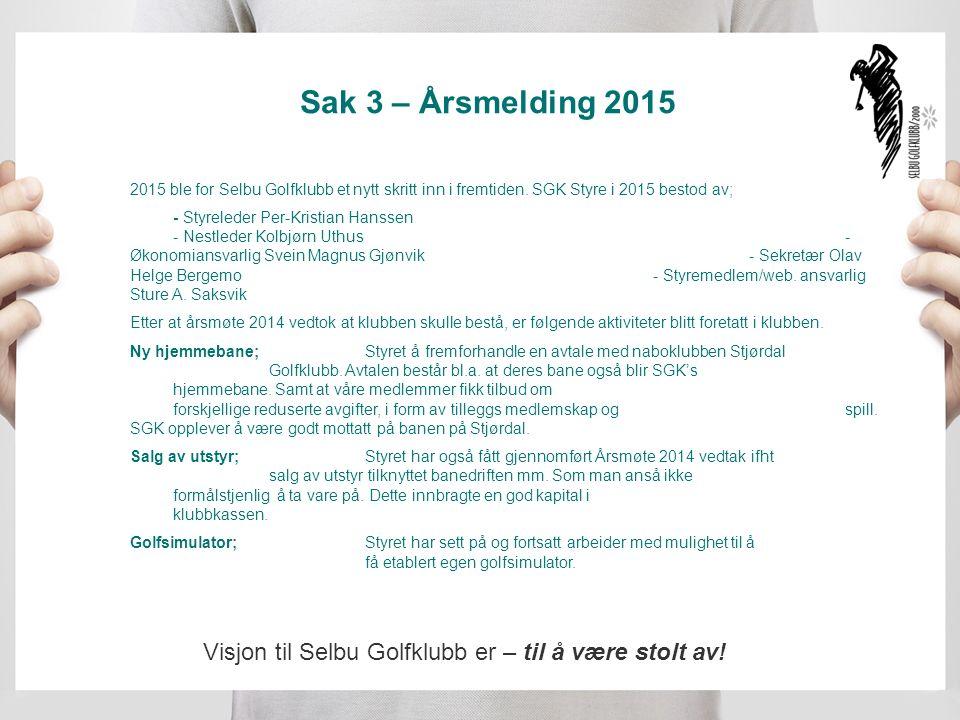 Sak 3 – Årsmelding 2015 Ny hjemmeside;ble etablert i 2015, der bl.a.