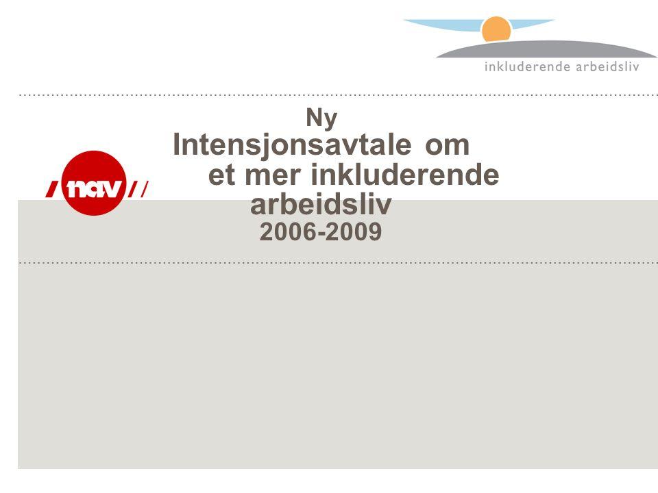 Ny Intensjonsavtale om et mer inkluderende arbeidsliv 2006-2009