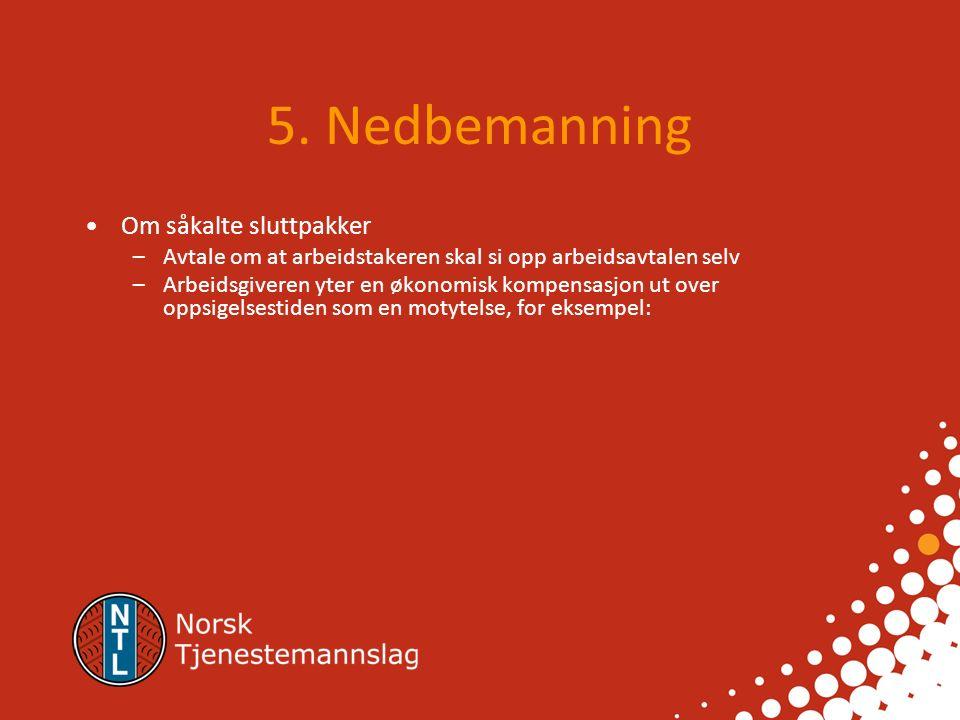 4.2. Opph ø r av arbeidsavtale 4.2.3. Rett til passende arbeid 4.2.4.
