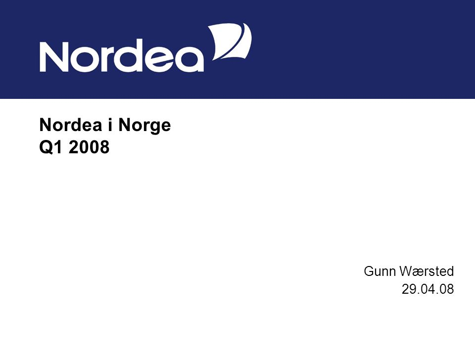 Nordea i Norge Q Gunn Wærsted