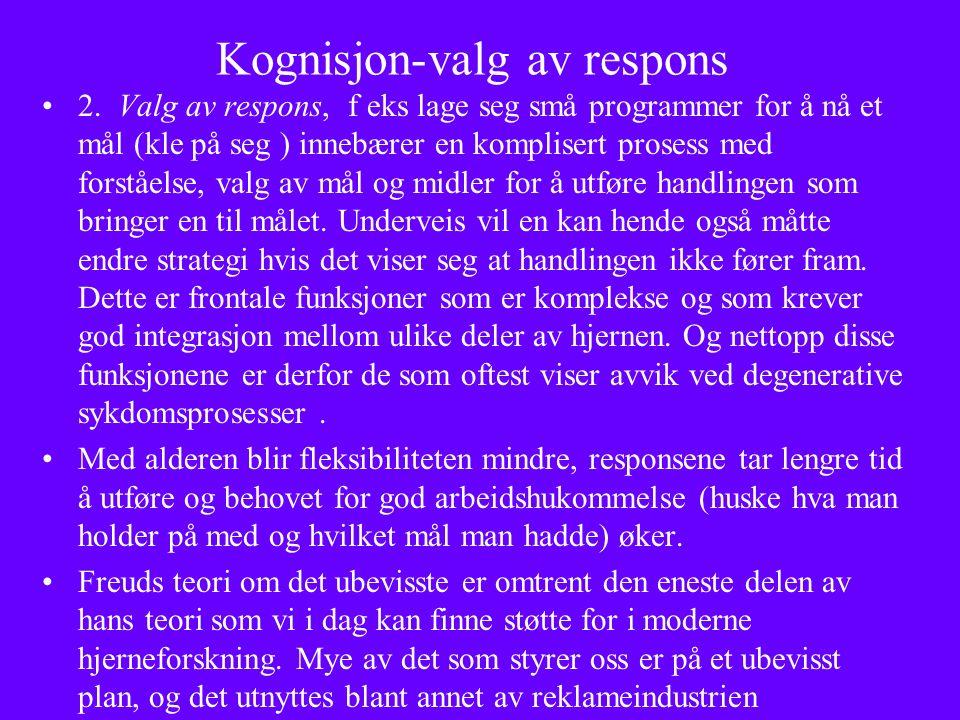 Kognisjon-valg av respons 2.