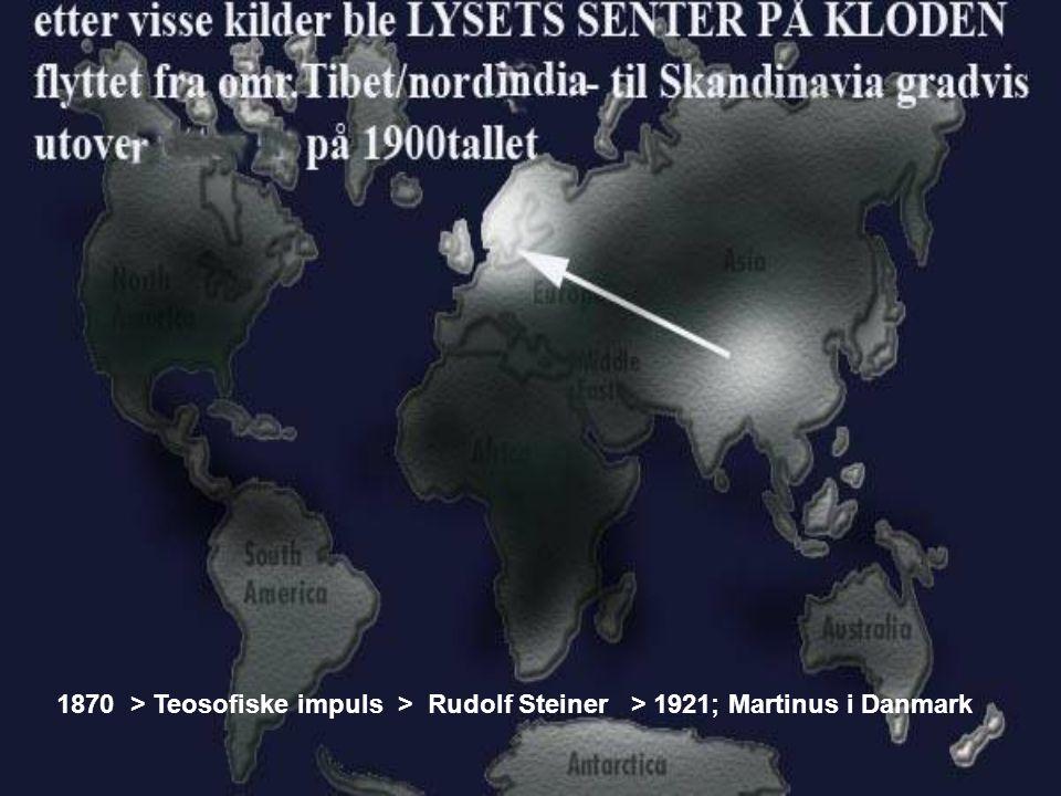 1870 > Teosofiske impuls > Rudolf Steiner > 1921; Martinus i Danmark
