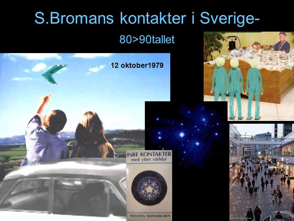 S.Bromans kontakter i Sverige- 80>90tallet 12 oktober1979
