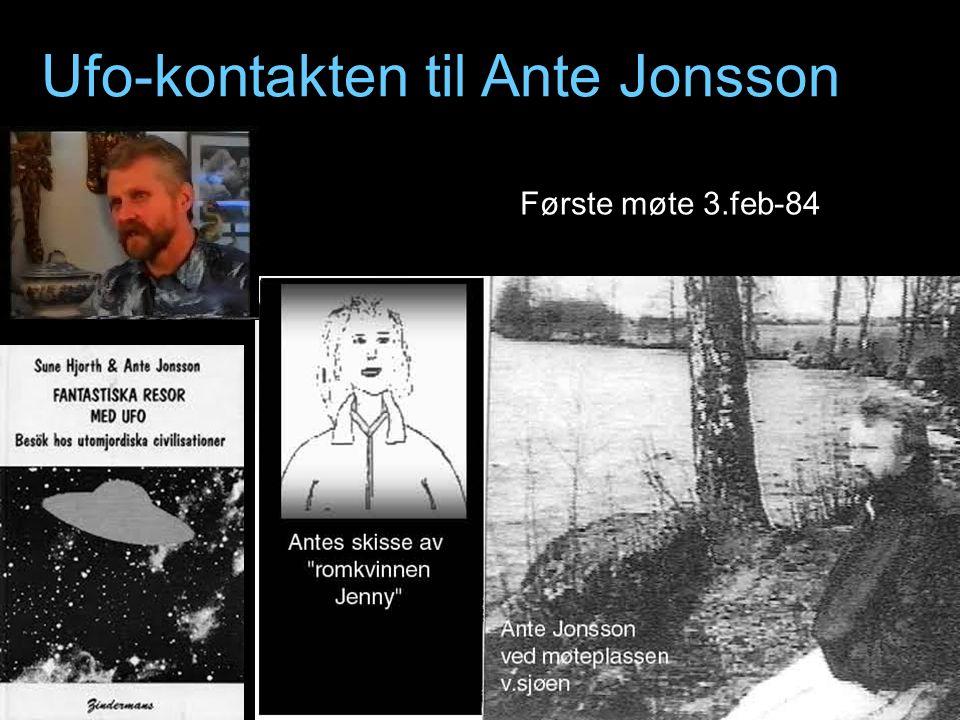 Ufo-kontakten til Ante Jonsson Første møte 3.feb-84