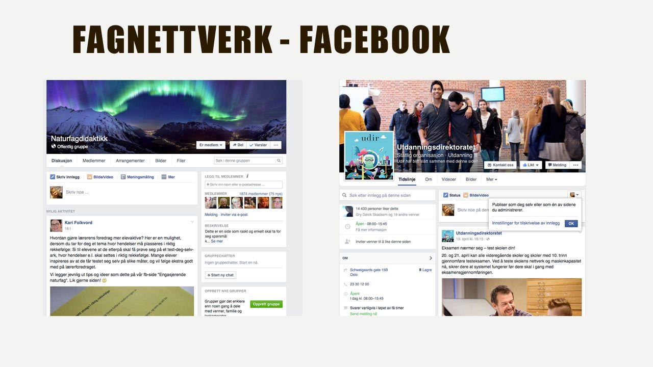 FAGNETTVERK - FACEBOOK