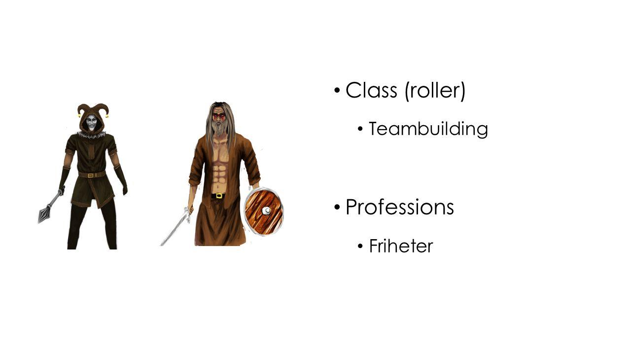 Class (roller) Teambuilding Professions Friheter
