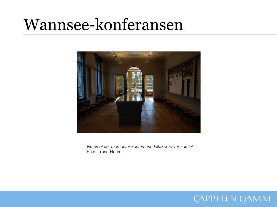 Wannsee-konferansen Rommet der man antar konferansedeltakerne var samlet. Foto: Trond Heum.