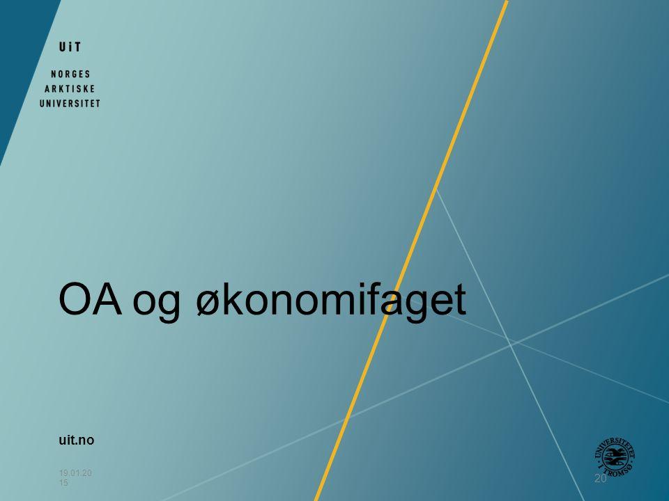 uit.no 19.01.20 15 20 OA og økonomifaget