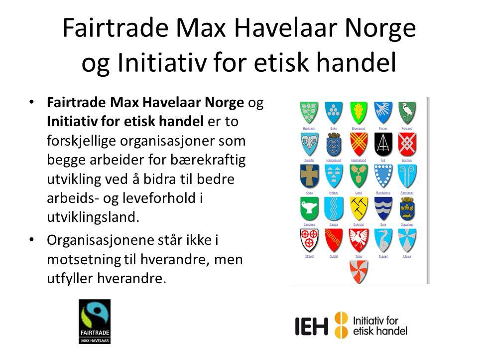 Fairtrade Langsiktige og stabile handelsrelasjoner mellom Sør og Nord Betaling dekker produksjonskostnader og gir en lønn å leve av (minimumspris) Trygge arbeidsforhold og arbeidsrettigheter Bærekraftig produksjon (miljø) Premium
