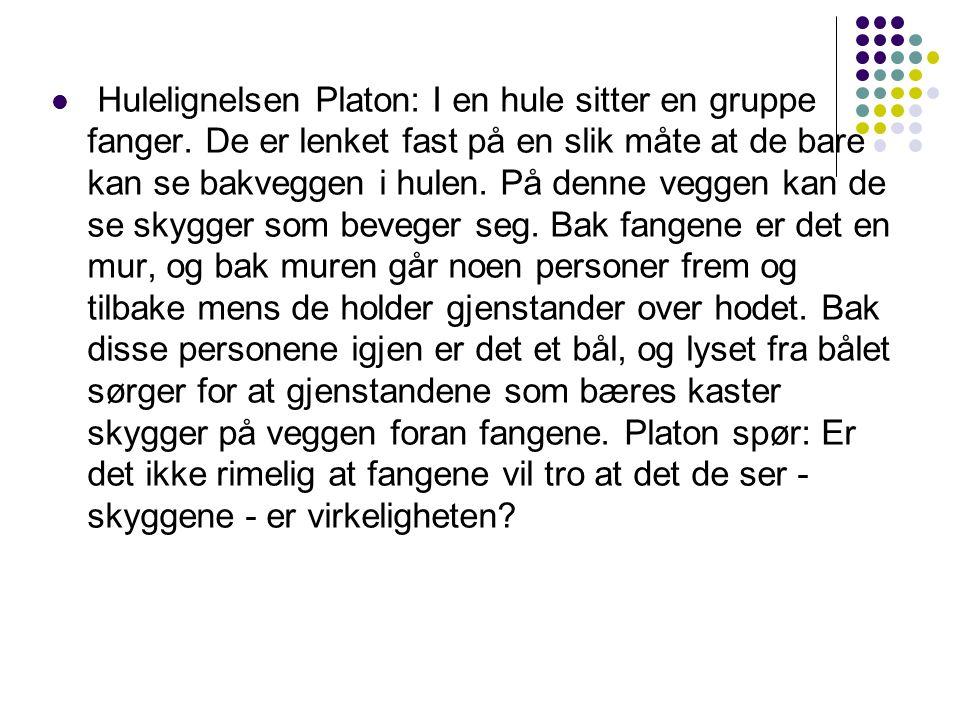 Hulelignelsen Platon: I en hule sitter en gruppe fanger.