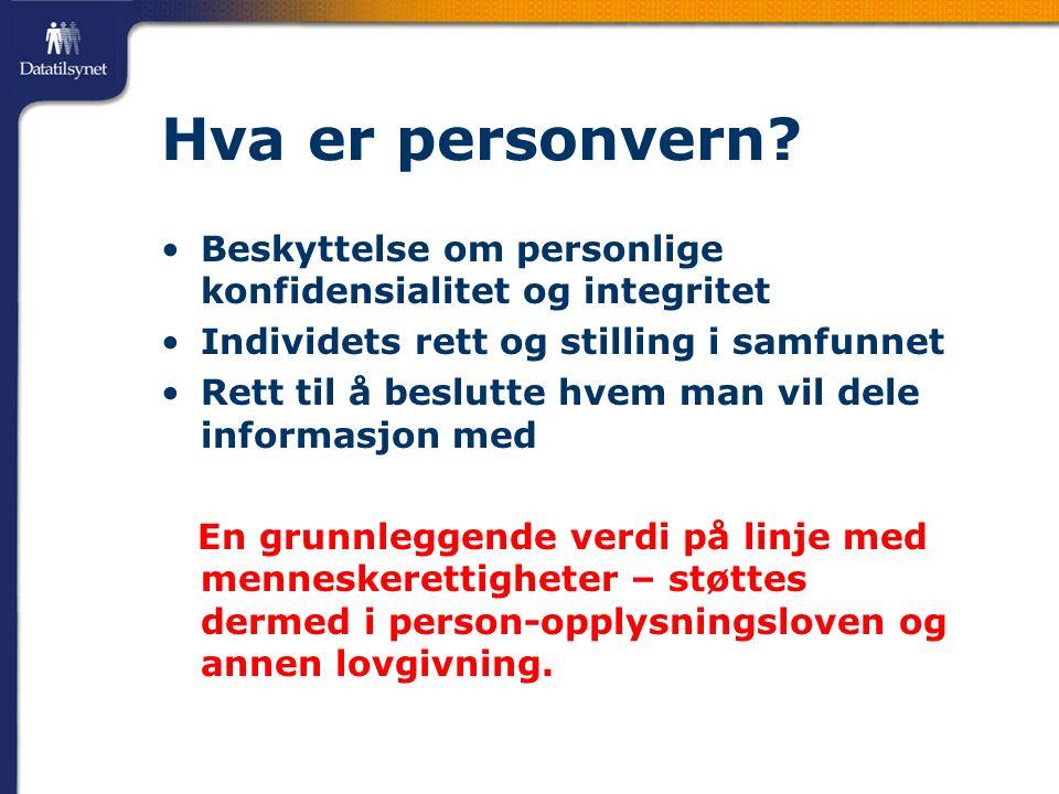 Hva er personvern.