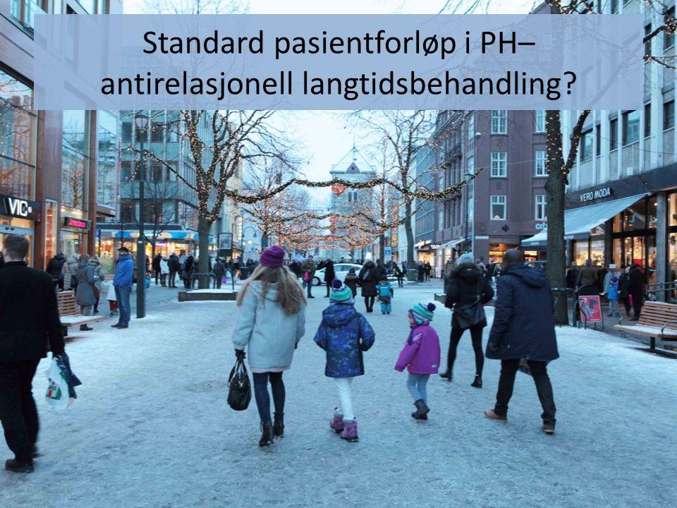Standard pasientforløp i PH– antirelasjonell langtidsbehandling