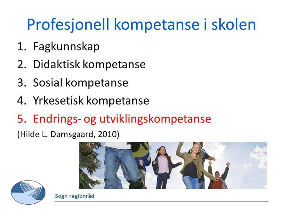 Profesjonell kompetanse i skolen 1.Fagkunnskap 2.Didaktisk kompetanse 3.Sosial kompetanse 4.Yrkesetisk kompetanse 5.Endrings- og utviklingskompetanse (Hilde L.