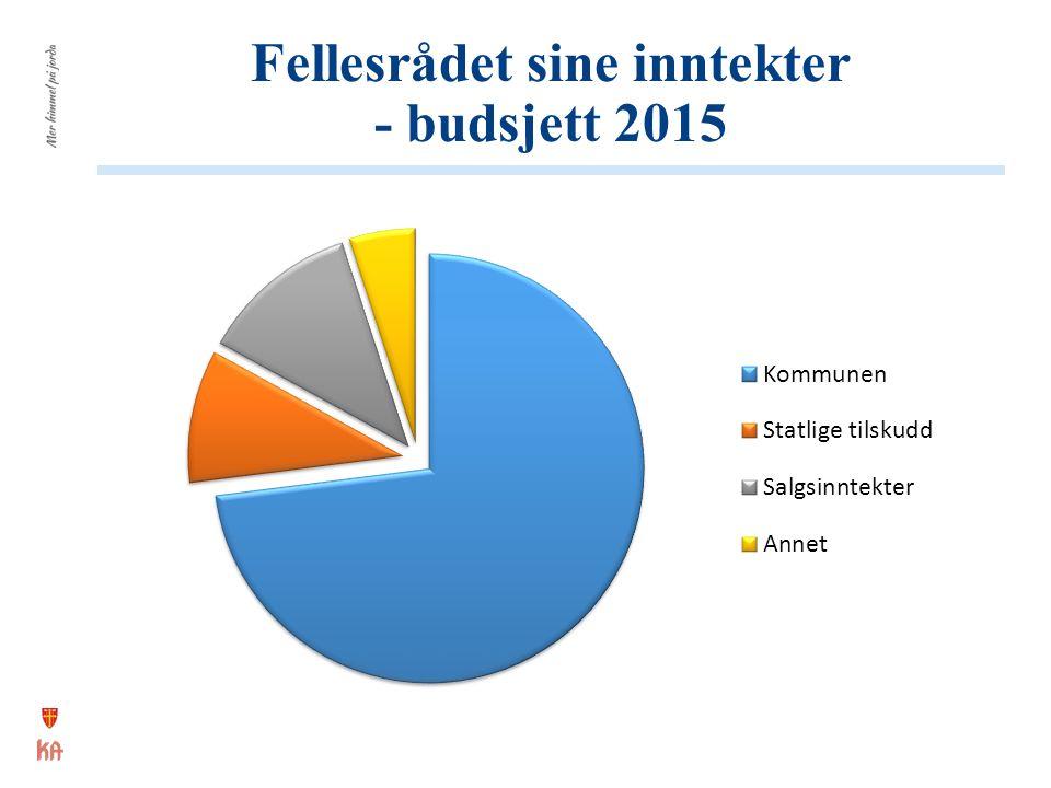 Fellesrådet sine inntekter - budsjett 2015