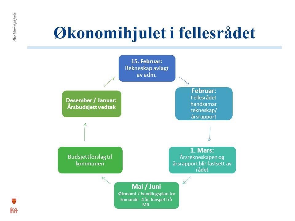 Økonomihjulet i fellesrådet 15. Februar: Rekneskap avlagt av adm.