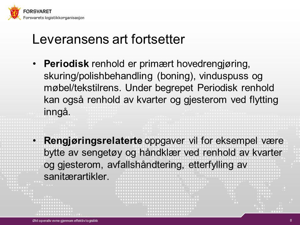 29 Virksomhetsoverdragelse Konkurranseutsetting av renhold vil kontraktsfestes som en virksomhetsoverdragelse iht.