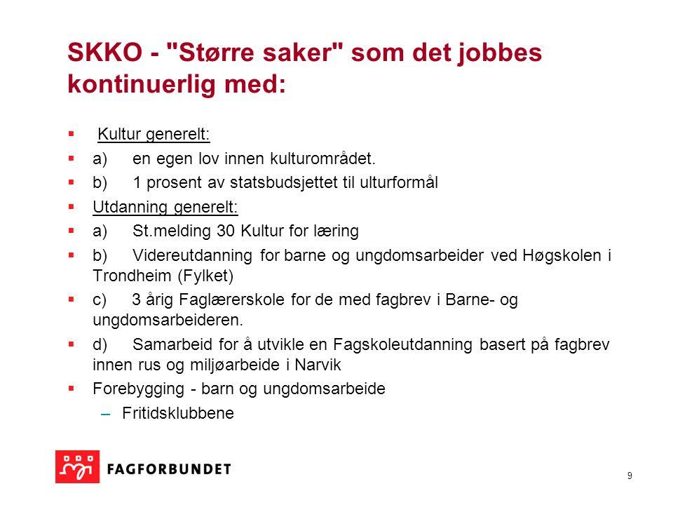 10 SKA  Skatterevisjon  overføring fra stat til kommune (mye arbeid både inn mot direktoratet, enkeltmedlemmer etc)  Skatteoppkrevingshøring  på høring forslag om statliggjøring (nettverksarbeid med KS etc.