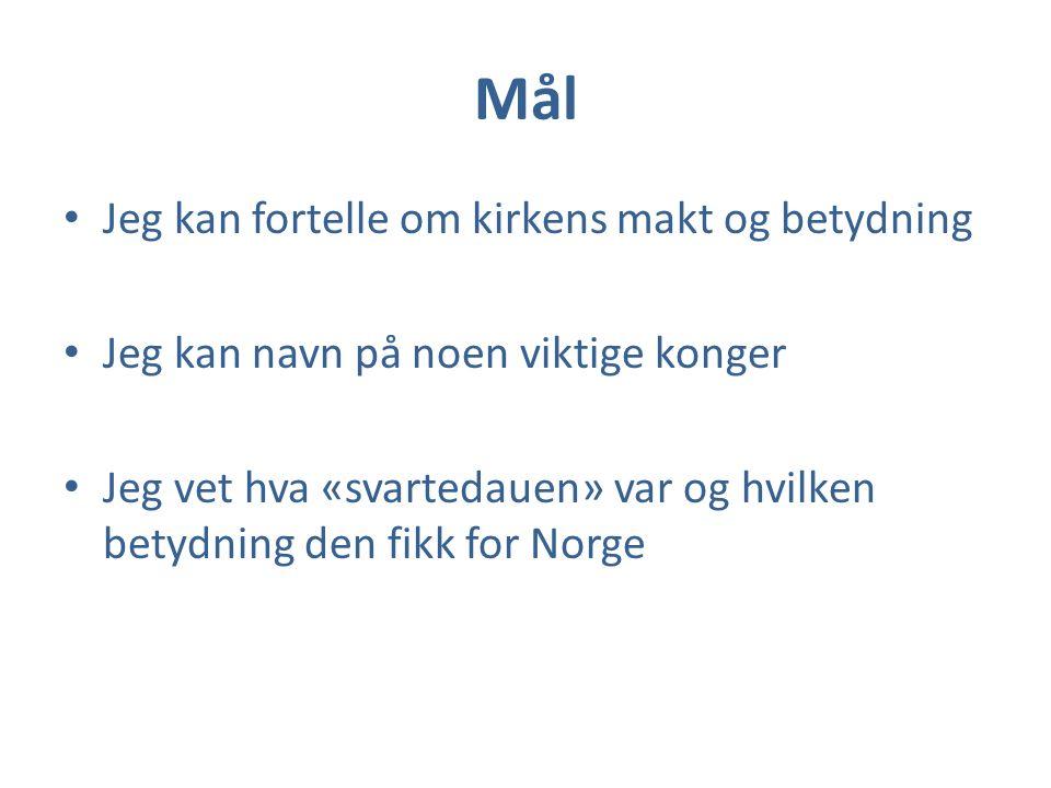 Kongssønner Noen opptatt med handel Bergen 1070: Olav Kyrre Sloss om kongsmakten Slutten av 1100 : Borgerkriger Folketall økte / jord ble dyrket/byer vokste