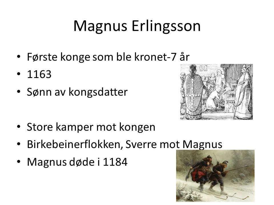 Sverre Sigurdson Tvang biskopen til krone Paven bannlyste Sverre Brant i Bergen Døde i 1202