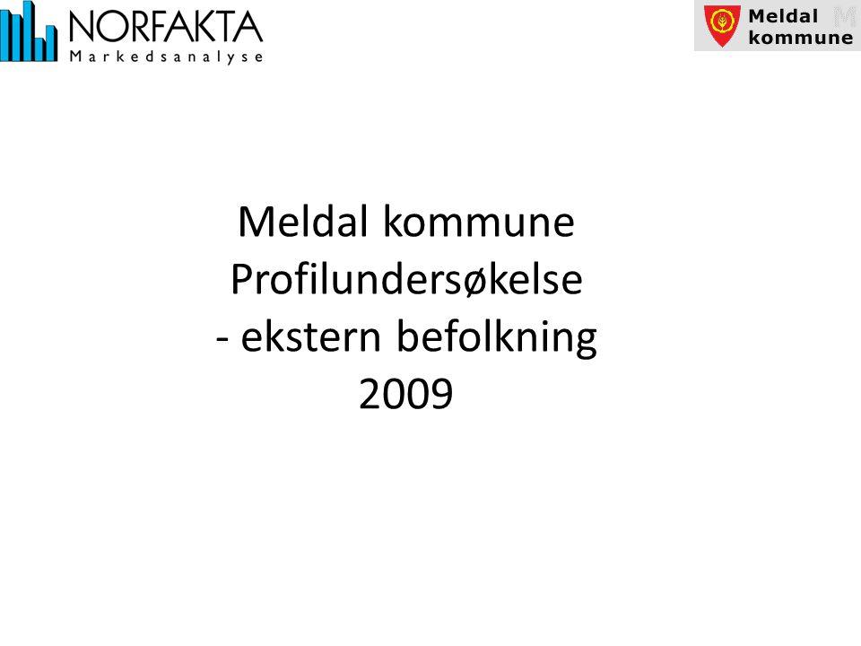 Meldal kommune Profilundersøkelse - ekstern befolkning 2009