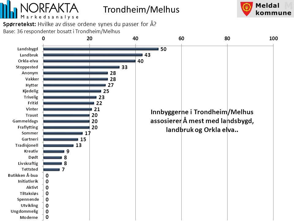 Trondheim/Melhus Spørretekst: Hvilke av disse ordene synes du passer for Å.