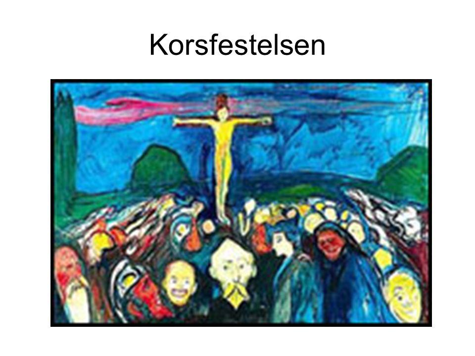 Et av de vanligste motiv i kirkekunst Dette er en skulptur fra Nirdarosdomen i Trondheim