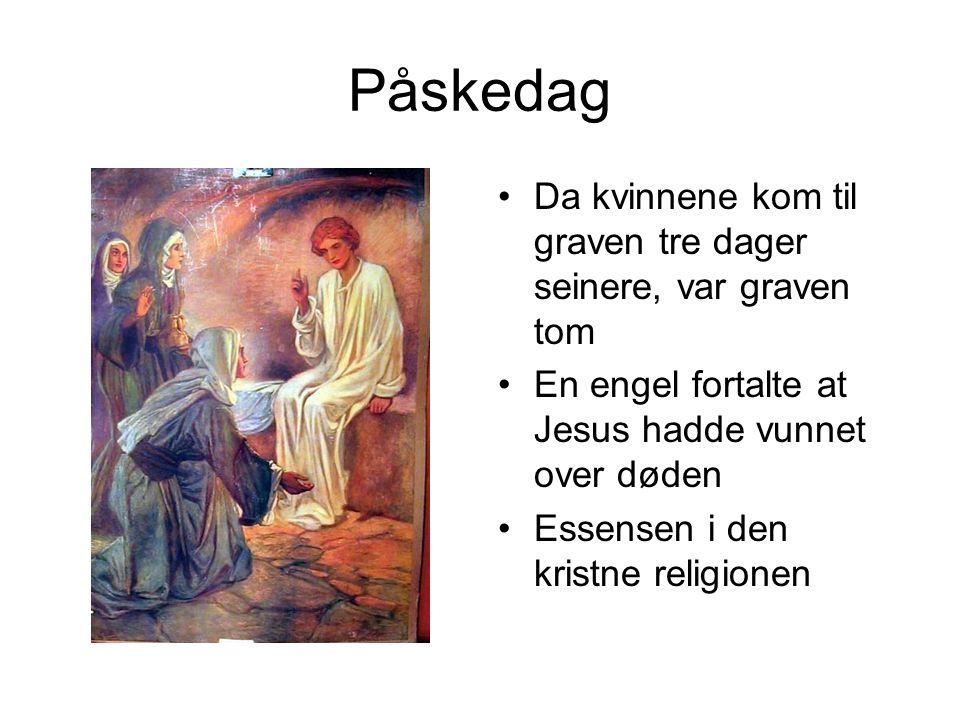 Kristi Himmelfartsdag I 40 dager gikk Jesus på jorden etter Påske Vennene snakket med ham, men de kjente ham ikke alltid igjen Den 40.dagen reiste han opp til sin Far i Himmelen