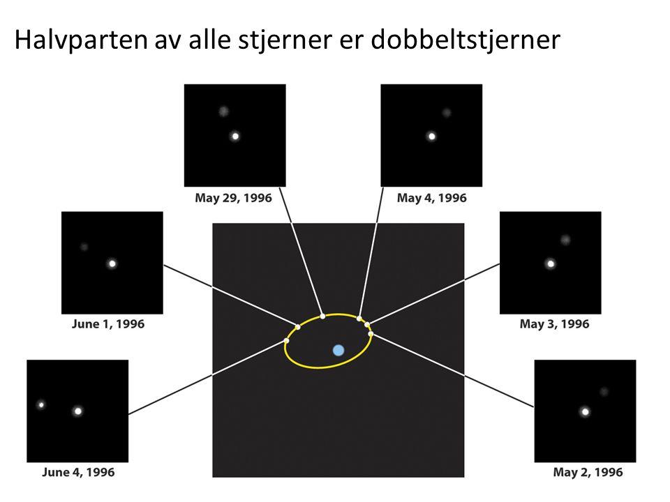 AST1010 - Stjerners natur22 Halvparten av alle stjerner er dobbeltstjerner