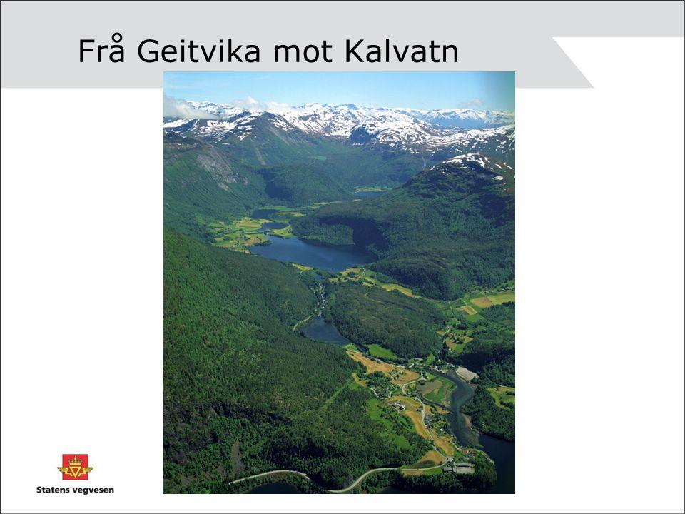 Frå Geitvika mot Kalvatn