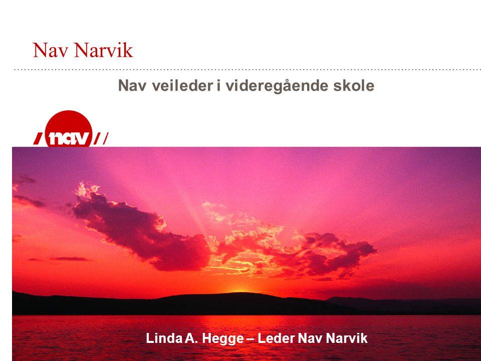 Nav Narvik Nav veileder i videregående skole Linda A. Hegge – Leder Nav Narvik