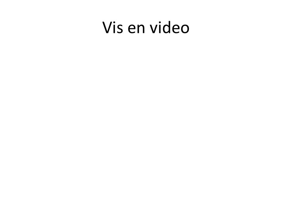 Vis en video