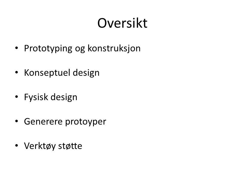 Prototyping Hva er en prototype.Hvorfor lage prototyper.