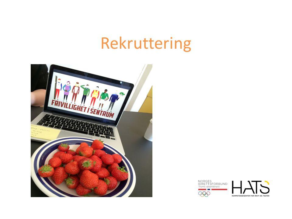 Refleksjon Er rekruttering en del av innhold i vedtekter eller andre instrukser.