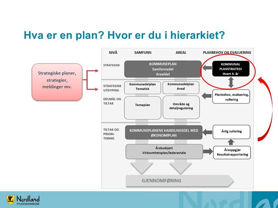 Stort volum tematiske planer 15-50 «temaplaner» Planer for tverrsektorielle tema, sektorplaner, handlingsplaner, programmer, forvaltningsplaner I tillegg noen tematiske kommunedelplaner