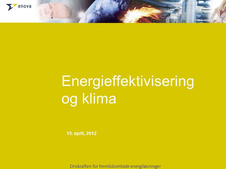 15. april, 2012 Energieffektivisering og klima