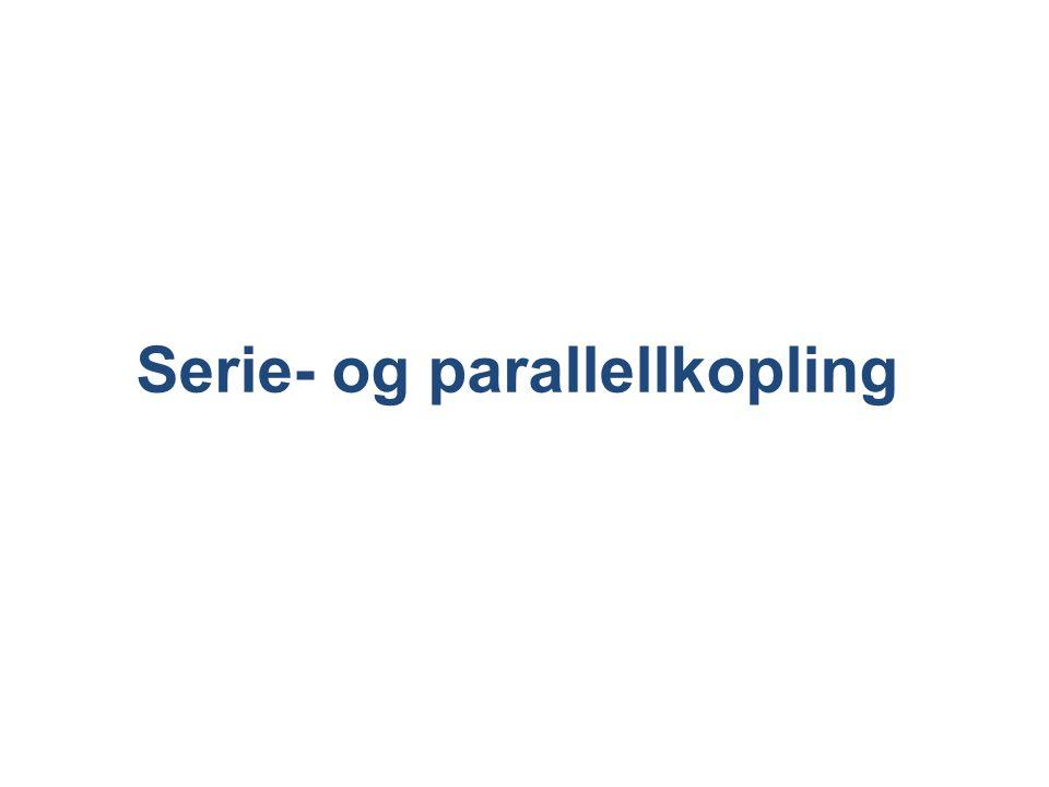 Serie- og parallellkopling
