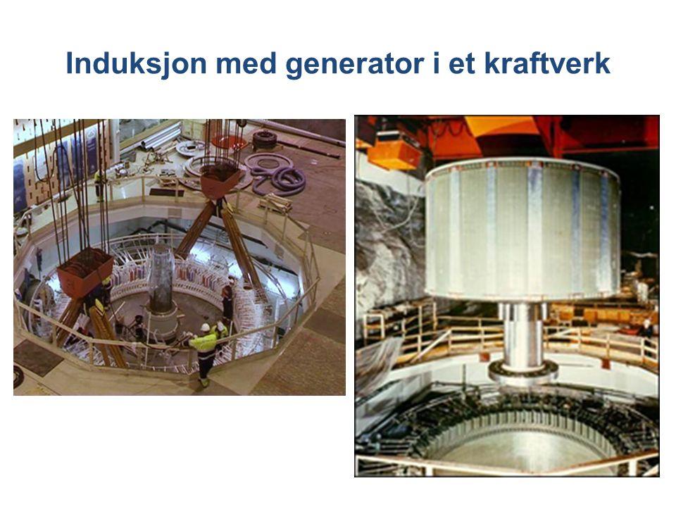 Induksjon med generator i et kraftverk