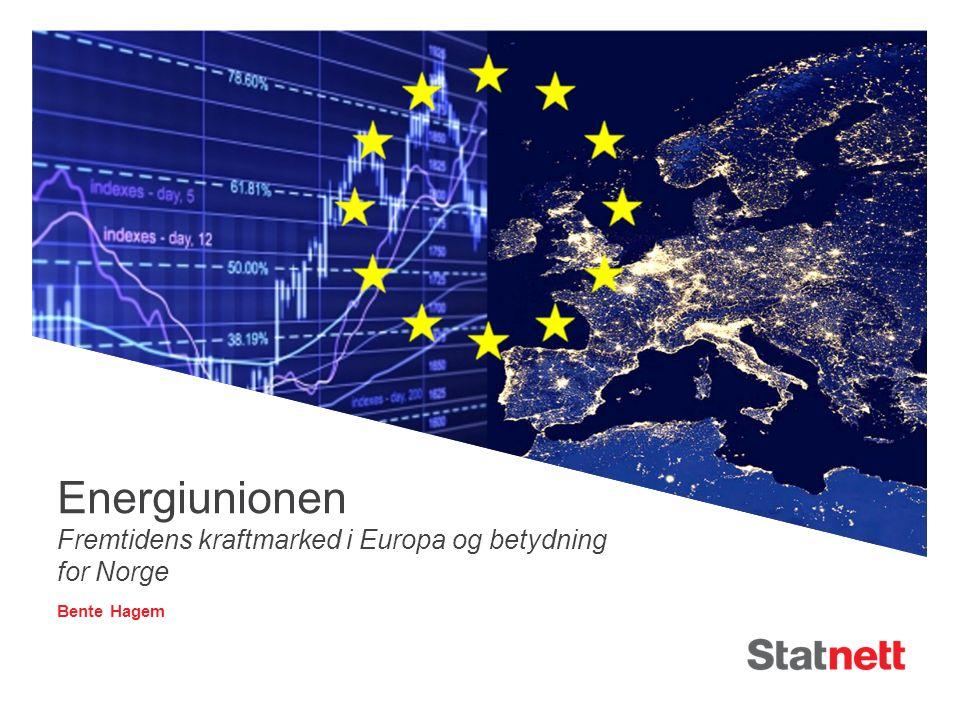 Agenda 1.Innledning 2.Det indre energimarkedet - Status 3.Energiunionen og energimarkedet mot 2030 4.Norge i Energiunionen - Suksesskriterier Fremtiden er elektrisk 2