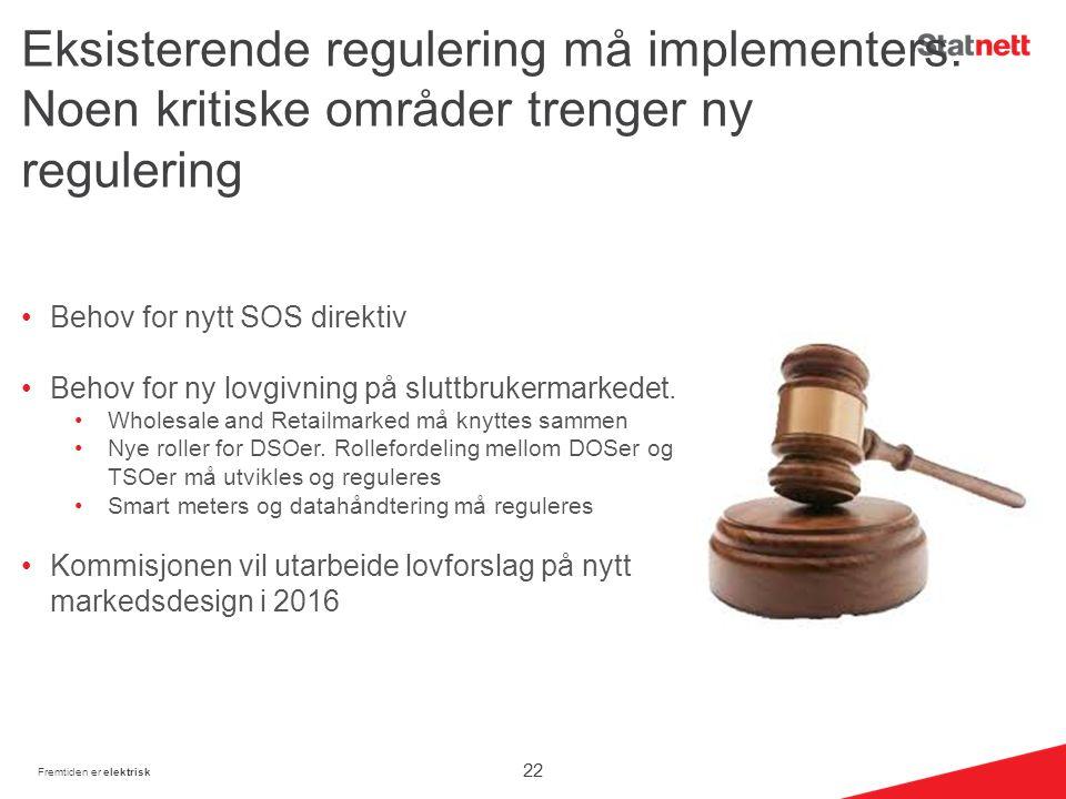 Eksisterende regulering må implementers.