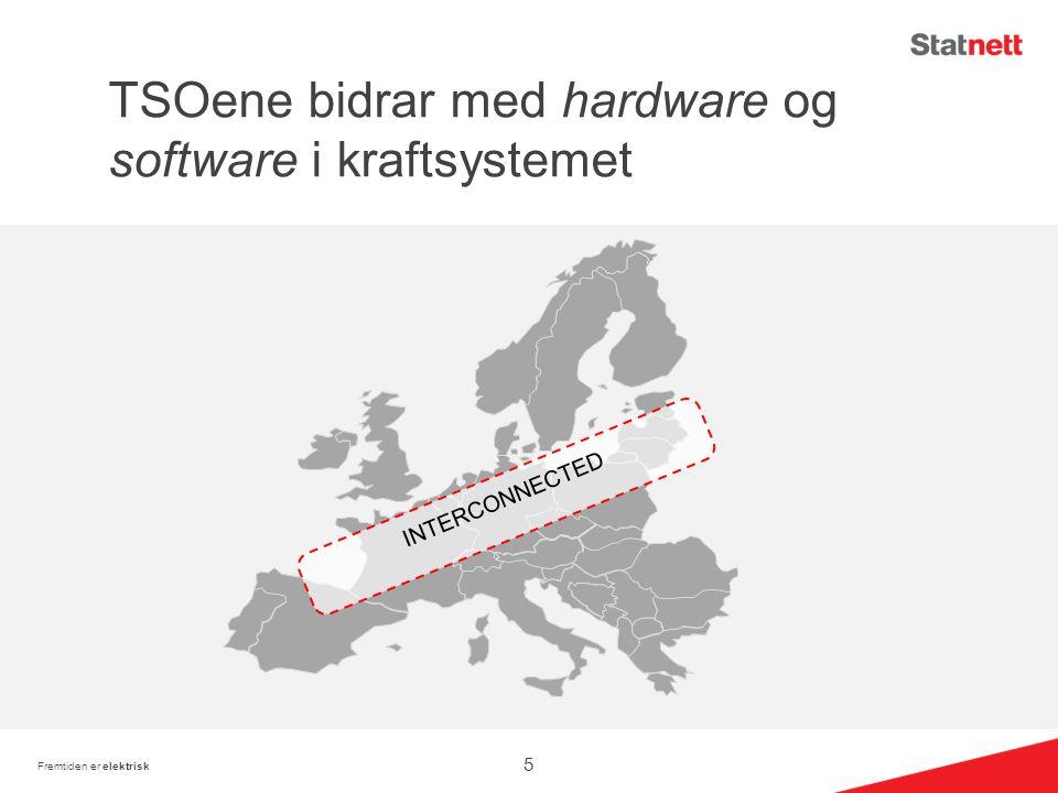 TSOene bidrar med hardware og software i kraftsystemet Fremtiden er elektrisk INTERCONNECTED 5