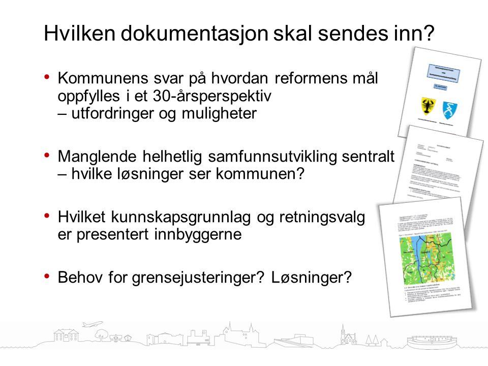 Kommunens svar på hvordan reformens mål oppfylles i et 30-årsperspektiv – utfordringer og muligheter Manglende helhetlig samfunnsutvikling sentralt –